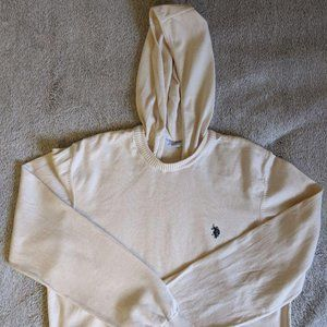 U.S. Polo Assn. hooded cotton sweater size M